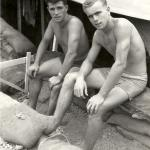 Ed Casey (left) and Jeff , 45 Commando, Dhala Camp 1961