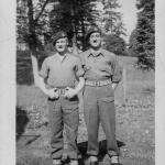 Sgt's. William Noakes MM and  Jack Sinclair, Malente,  Summer 1945
