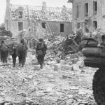Cdos exiting Sword Beach, June 44
