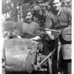 Mne. Andrew Norman Hill (in sidecar) and another