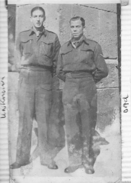 Albert Kenneth Smart (on the right) and unknown