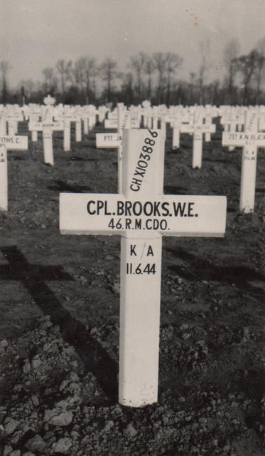 The grave of Corporal William Brooks 46 RM Cdo