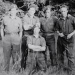 Mne. Ron Philpott (2nd right) and others unknown 1944
