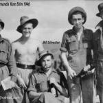Pte McKeogh, Cpl Young, Pte's Bill Sylvester, Paddy Byrne, Leo Hatch