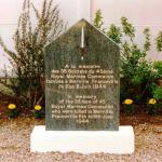 The 45 RM Cdo Monument Franceville after unveiling 7th June 1997