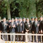 Veterans at the 45RM Commando memorial cross Le plein 6th June 1997
