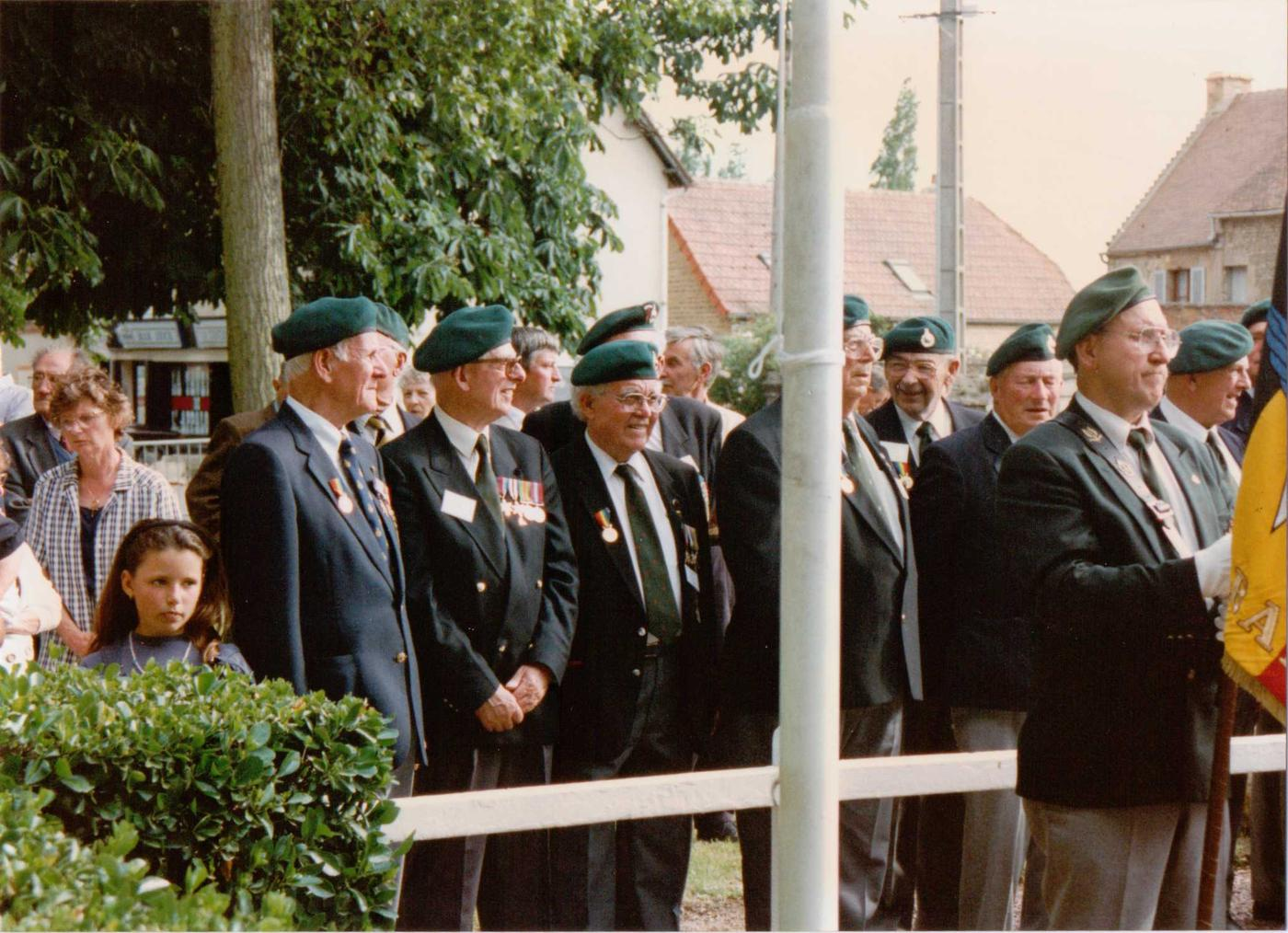 Veterans at the 45RM Commando memorial cross Le Plein 6th June 1997 (2)