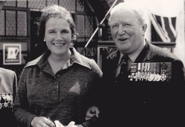 Brig. Mills Roberts CBE, DSO, MC and his wife.