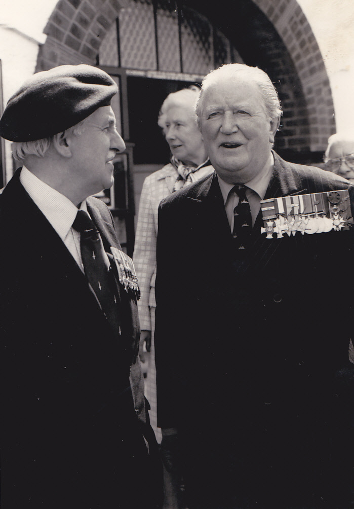 Henry Brown OBE and Brigadier Mills Roberts CBE, DSO, MC.