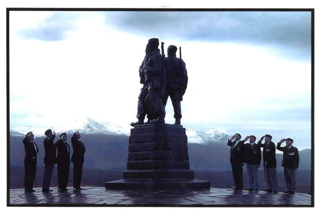 Salute at the Commando Memorial