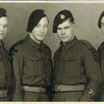 Mnes. Harriman, Oliver, Yeo and unknown from 'A' troop 46RM Commando