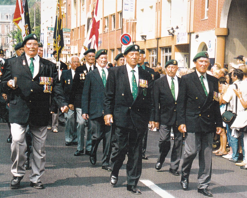 Procession march for the Commandos who took part in the Dieppe raid