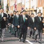 Procession march for the Commandos who took at Dieppe 19th August 1992
