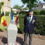 Bert Beddows at the No.3 Cdo memorial Amfreville June 2013
