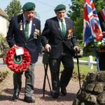 Wreath laying at the No.4 Cdo. Cairn Le Hauger 4th June 2013 (2)