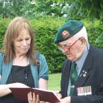Eileen Harris & CVA Chairman, Stan Scott, No3 Cdo.