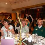 Elaine Southworth-Davies, Arthur Moore, Billy Moore No. 5 Cdo at dinner