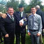 Mark Heard and his son Sam with Geoff Murray