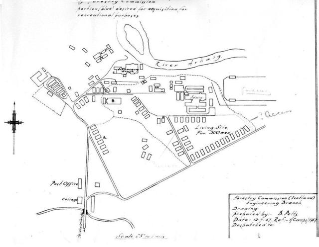 Map of the Achnacarry grounds 12th July 1947