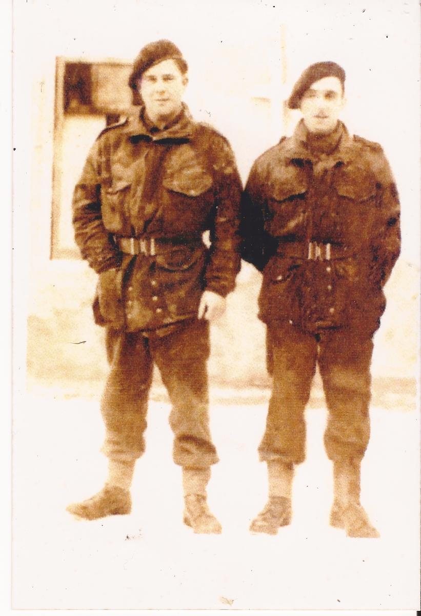 Pte's Arthur W. Bickerstaff and Roy Edmund Tarbox (on the right)