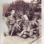 Capt. Pat Porteous, V.C., Capt. Ronald Menday, Lt. Murdoch C.McDougall,  Capt. R.J.Walker RAMC