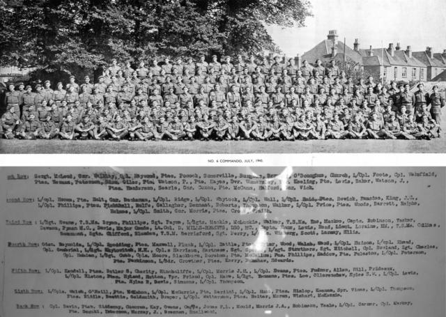 No 6 Cdo Panorama July 1943 with all the names