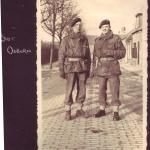 Sgt Osborn and CSM William Arnold Jones, January 1945