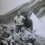 Sgts. Hill, Sutherland, Halliday and Eric Cross, Braemar, 1943