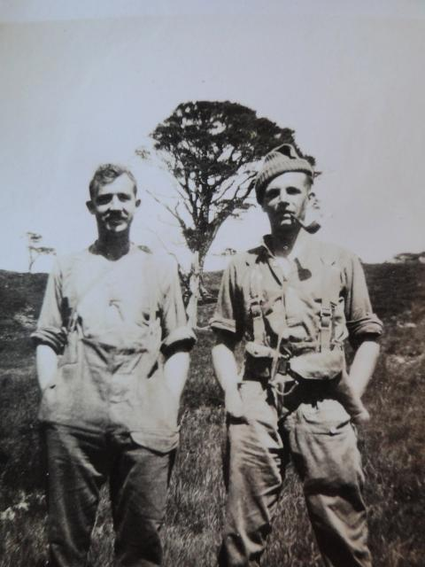 Sgt.Cross and Capt. Geoffrey Rees-Jones, No5 Cdo & CMWTC (on the left) &