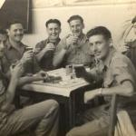 Brian Kelly and others No 9 Cdo at 51 Rest camp, Rome 1945