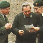 Piper Bill Millin with  Bernard Saunier, and Maurice Chauvet, 1984