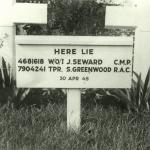 The grave of Tpr. Stephen Greenwood and RSM Joseph Seward