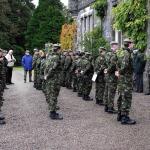 The Cadets get inspected by CVA National Secretary Joe Murtagh