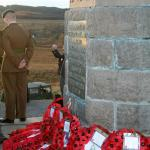 Wreaths laid at the Monument