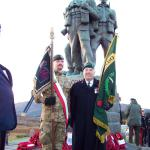 Joe Murtagh and Polish Special Forces Standard Bearer at the Memorial