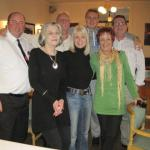 Brian Dunn, Jennie Barlow, John, Jan and Ben White. Bev and Ron Lain