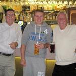Ron Lain with Ben and John White