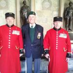 Fred Walker, Ted 'Dutch' Holland, and Roy Cadman, Westminster Abbey 2013.