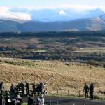 29 Commando RA and others at the Commando Memorial