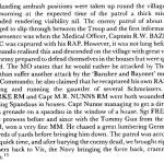 Account of the action for the award of the MM to Sgt French