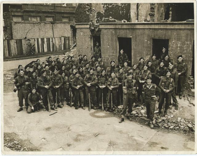 No 3 Commando 1 troop at Limehouse (smiling)