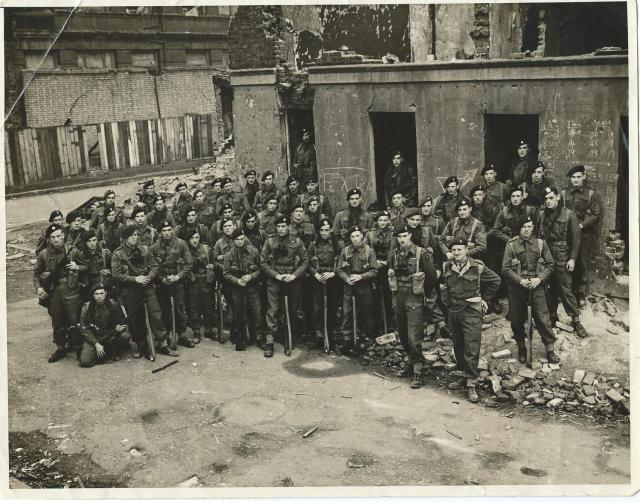 No 3 Commando 1 troop at Limehouse (not smiling)