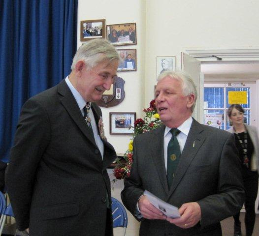 Brigadier Thomas CBE and John White
