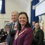 CVA President Brigadier Jack Thomas CBE and the Mayor of Croydon, Councillor Yvette Hopley