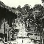 """OFP Sarawak 1965  -  """"Visiting"""" Longhouse Village(b)."""