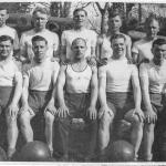 Matthew Stephenson (top right) and others training in Scotland