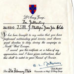Commendation for CSM Phillips