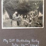 Birthday party in France for Thomas Cyril Sharpe No 4 Cdo & 1 SS/Cdo Bde.