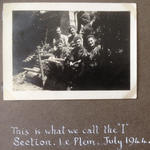 Thomas Cyril Sharpe (right) & others, 1 SS Brigade Intelligence Section Le Plein July 1944