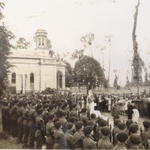 The unveiling ceremony of the memorial at Le Plein